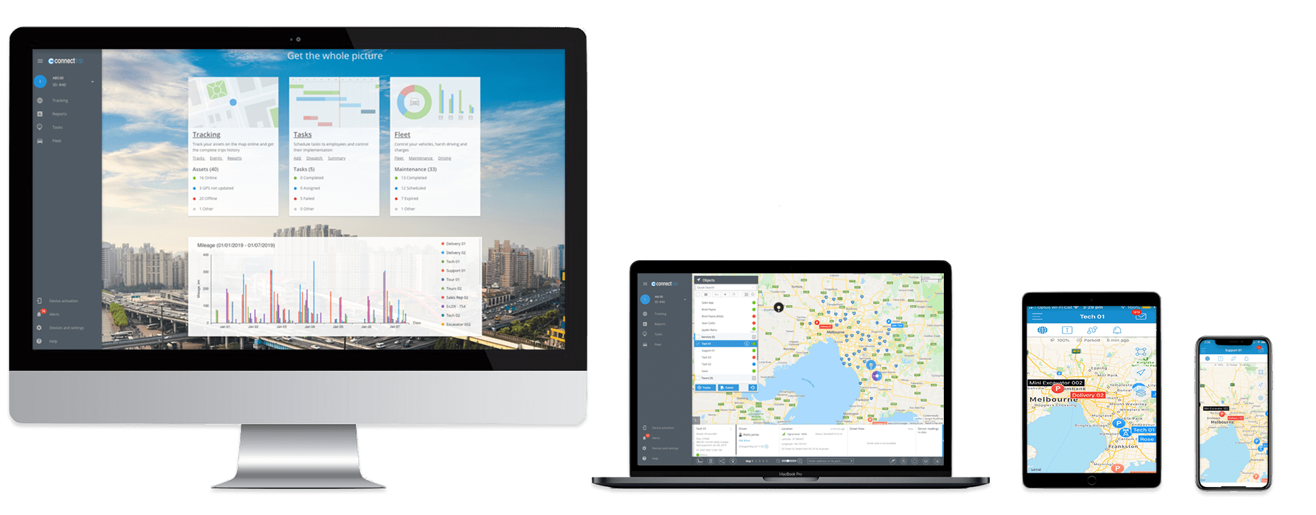 Connect Fleet software across multiple devices