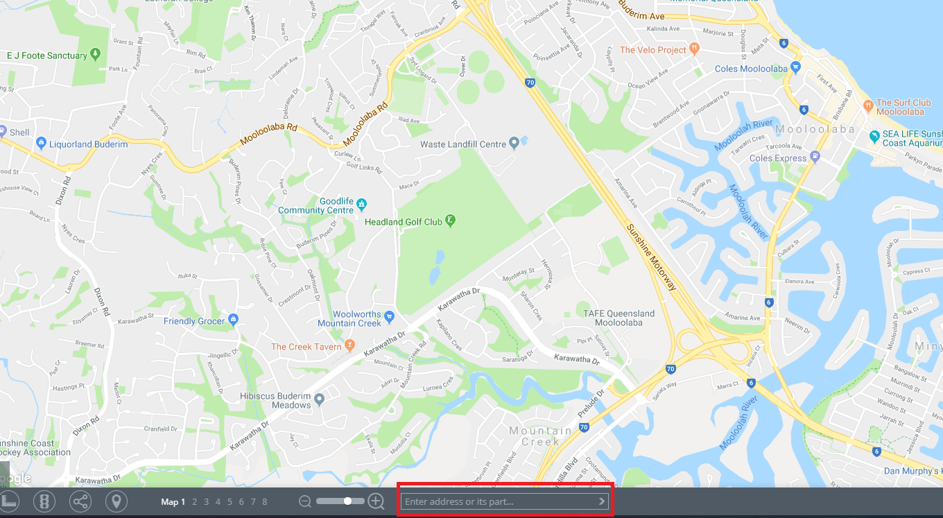 Geofence map zoom