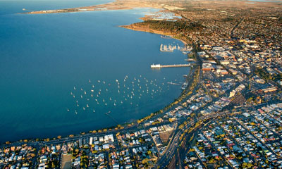 Aerial of Geelong
