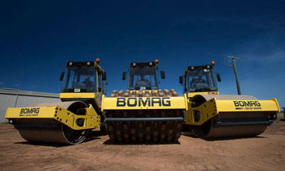 Proquip's gps fleet maintenance programme protects Bomag rollers