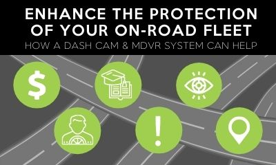 Connect Fleet infographic: protect your fleet better with a dash cam and MDVR system