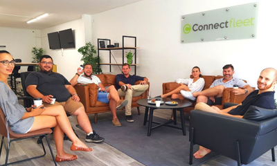 Connect Fleet team in the Sunshine Coast office