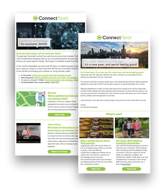 Fleet Management enewsletters from Connect Fleet